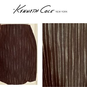 Kenneth Cole NY Coffee Woven Skirt NWT